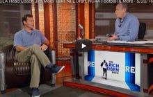 "Jim Mora Tells His QB Josh Rosen To Stop Doing Dumb Stuff Like Wearing A ""Fuck Trump"" Hat Or Else He'll End Up Like Johnny Football"