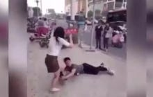 This Guy Clinging Onto His Chick's Leg In The Middle Of The Street After Being Dumped May Need To Learn About Dignity