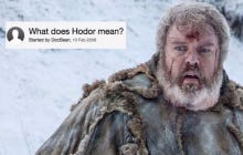 Some Dude Correctly Predicted What Happened To Hodor Back In 2008