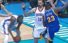 Draymond Green Says He Couldn't Have Kicked Steven Adams On Purpose Because His Core Isn't Strong Enough