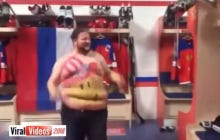 Fat American Fan Pissing In Pavel Datsyuk's Skates At The World Championships Must Not Fear Death At All