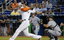 Hopefully Giancarlo Stanton Is Starting To Come Out Of His Funk With This Line Drive Home Run Today