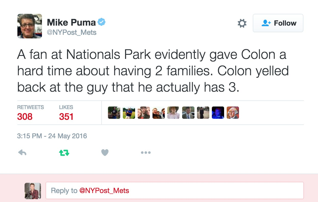 Bartolo Dunked On Some Loser Nats Fan Trying To Chirp Him About Having 2 Families