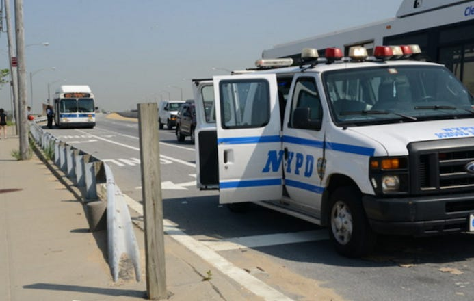I Feel For The Students That Were Going To Skip School And Head To The Beach Before The NYPD Pulled Over Their Bus