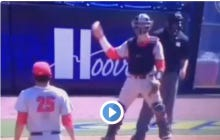 Is This UGA Catcher Serious With These Throws Back To The Pitcher?