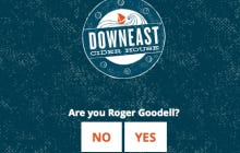 If You're Roger Goodell I Hope You Weren't Planning On Visitin Downeast Cider's Website