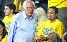 Bernie Sanders Went To The Warriors/Thunder Game 7 Last Night So He Could Tweet About It