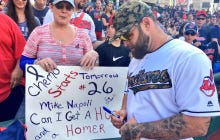 An Indians Fan About To Undergo Chemotherapy Asks Mike Napoli For A Hug And A Home Run, Gets Both