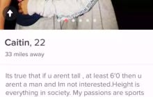 This Girl Seems Way Too Illiterate To Have Such A Demanding And Egotistical Tinder Bio