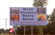 "So People Were Pretty Pissed At This Politician Who Put Up ""Make America White Again"" Campaign Signs"