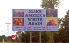 """So People Were Pretty Pissed At This Politician Who Put Up """"Make America White Again"""" Campaign Signs"""