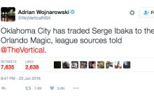 Woj Is Spoiling Every Draft Pick And Dropping Woj Bombs About Serge Ibaka Being Traded To The Magic