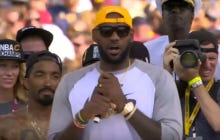 Lebron Thanked All His Teammates In The Most Backhanded Way Ever In His Parade Speech Yesterday