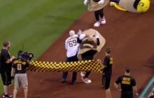 The Pirates Honored The Legends Of Wrestling Last Night, And Scott Steiner Closelined The Shit Out Of A Pierogie