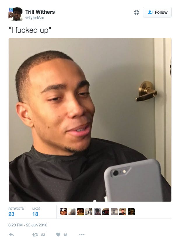 Brice Johnson Getting His Pre Draft Haircut At Supercuts Is Red Flag