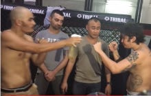 MMA Fighter Sprays Opponent With A Squirt Bottle Full of His Own Piss