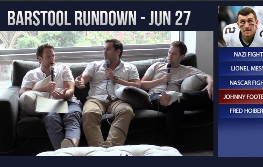 Barstool Rundown June 27, 2016