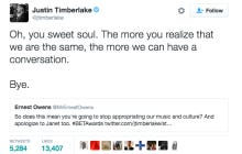 Black People Are PISSED At Justin Timberlake For Tweeting During A Speech About Racism At The BET Awards