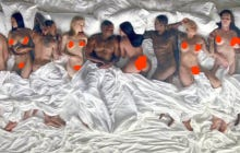 """I'm Finally Ready To Admit Kanye Is An Artistic Genius After Seeing The Bed Full Of Fake Celebrities In His """"Famous"""" Video"""