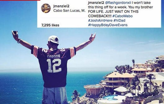Johnny Manziel Wears A Josh Gordon Jersey To Mexico, Shouts Out His Dad