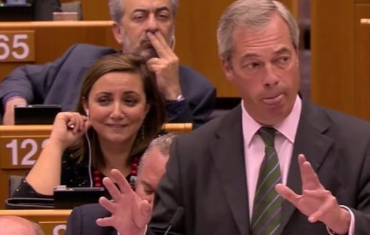 "Pro-Brexit Leader Verbally Pulls His Pants Down And Takes A Dump On European Parliament…""You're Not Laughing Now Are You?"""