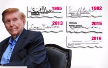 Sumner Redstone's Signature Evolution Is A Thing Of Beauty