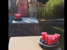 roomba pong is the obvious next step in beer pong s evolution