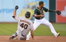 Wake Up With Madison Bumgarner Ripping A Double In An American League Ballpark
