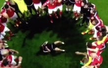 Cameraman Spinning On His Back Filming Wales Celebrate After Their Big Upset