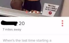 This Girl On Tinder Has A Pretty Valid Question About An Opener That Guys Use A Lot