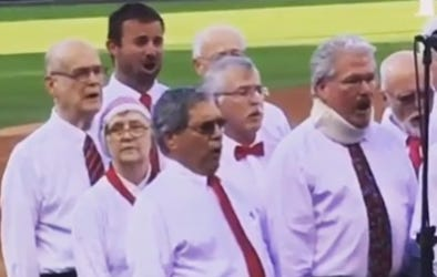An Encore Of Smitty Sneaking In Behind Some Old Folks To Sing The National Anthem At The Phillies Game Taking You Into The Weekend