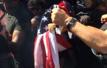 A Protestor At The RNC Lit An American Flag On Fire Then Accidentally Lit Himself In Fire Then Accidentally Caught Other People On Fire