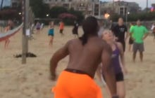 Big Ups To This Girl Who Had The Balls To Take On A Cam Newton Volleyball Spike