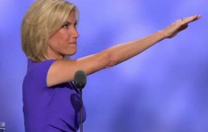 Laura Ingraham Needs To Work On That Wave A Little Bit So It's Not So Hitler-y