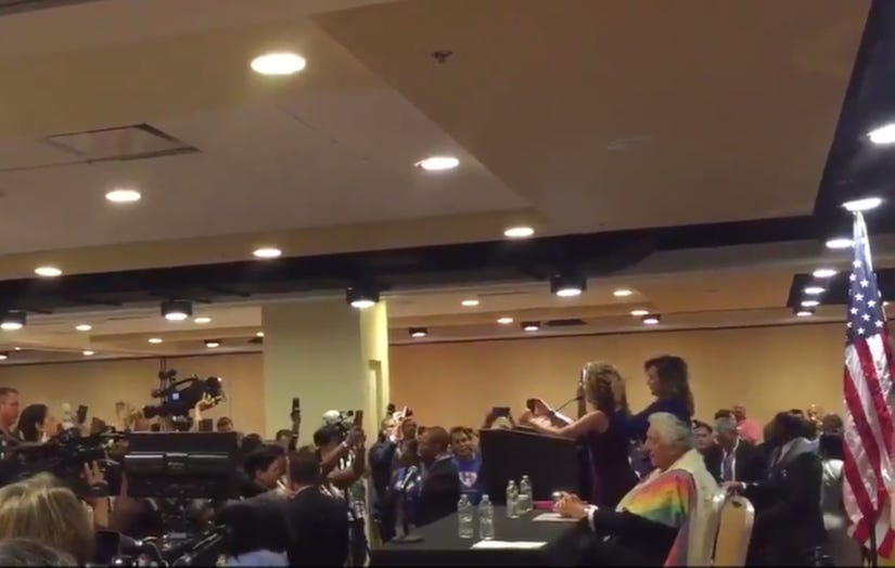 Debbie Wasserman Schultz Gets The SHIT Booed Out Of Her At DNC Breakfast