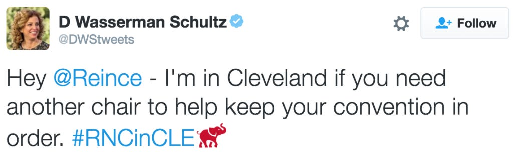 Incredibly Regrettable Tweet From Debbie Wasserman Schultz