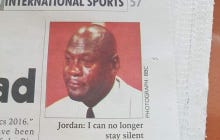 The Crying Jordan Face Showed Up In An African Newspaper