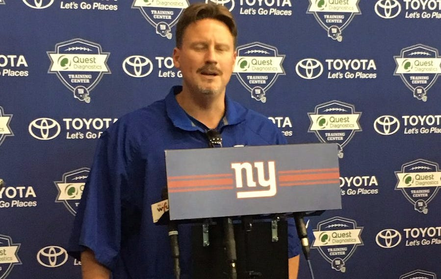 Ben McAdoo Is Looking Sharp During His First Day Of Training Camp As Giants Head Coach