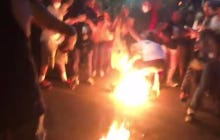 It Took Longer Than Expected, But The DNC In Philly Finally Lit Its First Protester On Fire
