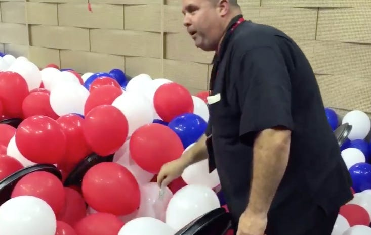 More Balloon Talk: It Was This Guy's Job Last Night To Pop All Of The Balloons After The DNC Ended