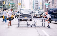 Usher Playing Ping Pong In The Middle Of Sixth Avenue During Rush Hour Was A Straight Up Dickhead Move