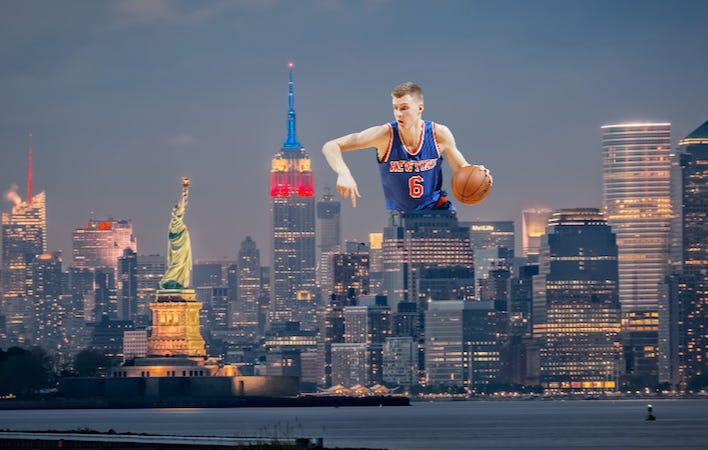 Image result for kristaps porzingis in city