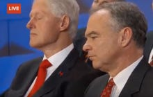 Bill Clinton Was Blatantly Asleep During Hillary's Speech Last Night