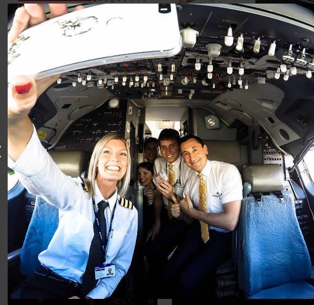 Hot Ryanair Pilot Takes Instagram Cockpit Selfies And