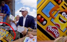 Trump Crushed His Louisiana Flood Relief Effort, Handed Out Plenty of Play-Doh