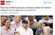 20 MLB Teams Are Confirmed For Tim Tebow's Baseball Workout