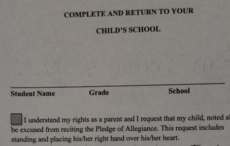 "Florida Woman Has The Best Response To Her Daughter's School Sending Home An ""Opt Out Of The Pledge Of Allegiance"" Waiver"