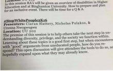 "Binghamton RA Training Features A ""#StopWhitePeople2K16″ Seminar"