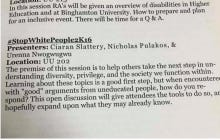"Binghamton RA Training Features A ""#StopWhitePeople2K16″ Seminar"