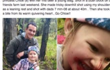 People Are Pretty Upset That A Dad Took His Daughter Hunting Then Let Her Bite A Deer's Heart